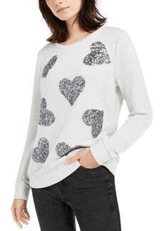 INC International Concepts Inc Sequin-Heart Sweatshirt, Created for Macy's