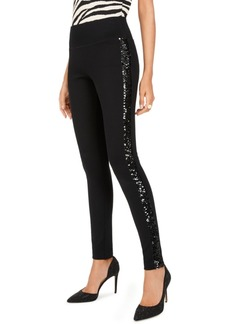 INC International Concepts Inc Sequin-Trim Pull-On Ponte Pants, Created for Macy's