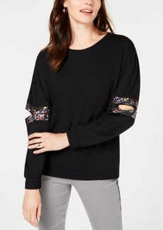 INC International Concepts I.n.c. Sequined Cutout Sweatshirt, Created for Macy's