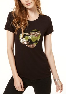 INC International Concepts I.n.c. Sequined Heart T-Shirt, Created for Macy's