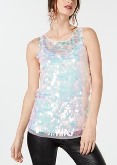 INC International Concepts Inc Sequined Tank Top, Created for Macy's