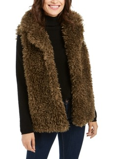 INC International Concepts Inc Shaggy Faux-Fur Duster With Collar, Created For Macy's