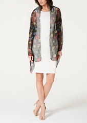 INC International Concepts I.n.c. Sheer Botanical Floral Wrap, Created for Macy's