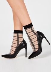 INC International Concepts Inc Sheer Plaid Anklet Socks, Created for Macy's