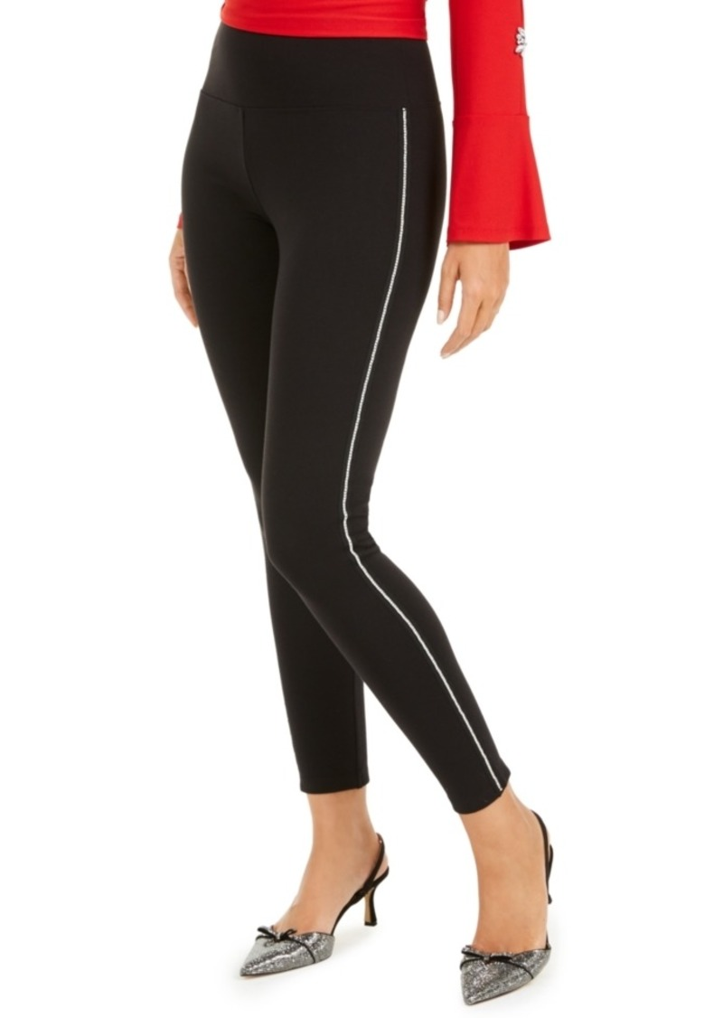 INC International Concepts Inc Shine Embellished Tuxedo Leggings, Created For Macy's