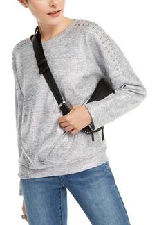 INC International Concepts Inc Shine Studded Sweatshirt, Created for Macy's
