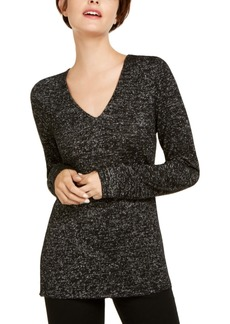 INC International Concepts Inc Shiny Knit Top, Created for Macy's