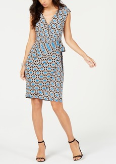 INC International Concepts I.n.c. Short-Sleeve Faux-Wrap Dress, Created for Macy's