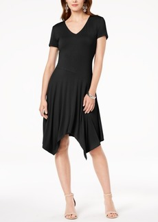 INC International Concepts I.n.c. Short-Sleeve Handkerchief-Hem Dress, Created for Macy's