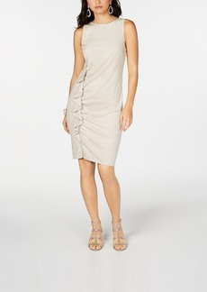 INC International Concepts I.n.c. Petite Side-Ruffle Sheath Dress, Created for Macy's