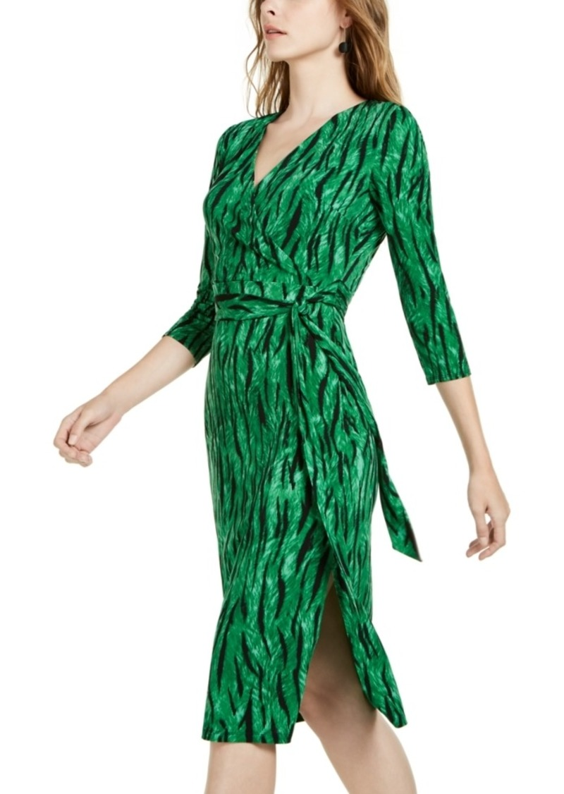 INC International Concepts Inc Side-Tie Faux-Wrap Dress, Created for Macy's