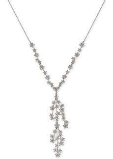 """INC International Concepts Inc Silver-Tone Crystal Cluster Flower Y-Necklace, 16"""" + 3"""" extender, Created for Macy's"""