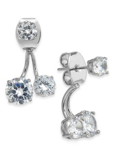 INC International Concepts Inc Silver-Tone Crystal Front-and-Back Earrings, Created for Macy's