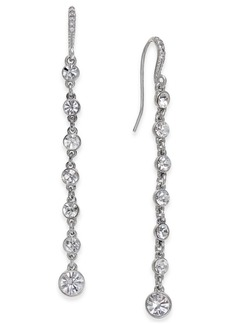 INC International Concepts Inc Silver-Tone Crystal Linear Drop Earrings, Created for Macy's