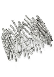 INC International Concepts Inc Crystal Zig-Zag Stretch Bracelet, Created for Macy's