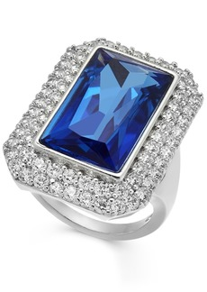 INC International Concepts Inc Silver-Tone Pave & Stone Statement Ring, Created For Macy's