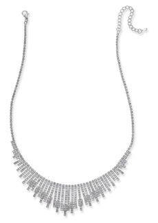INC International Concepts Inc Silver-Tone Pave Statement Necklace, Created for Macy's