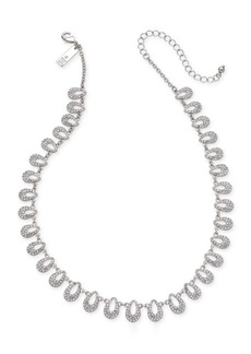 """INC International Concepts I.n.c. Silver-Tone Pave Teardrop Statement Necklace, 16"""" + 3"""" extender, Created for Macy's"""
