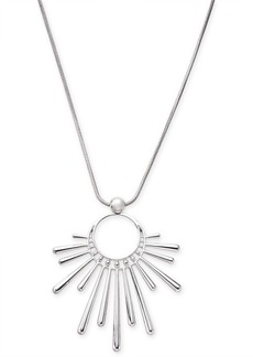 """INC International Concepts I.n.c. Silver-Tone Sunburst Pendant Necklace, 16"""" + 3"""" extender, Created for Macy's"""