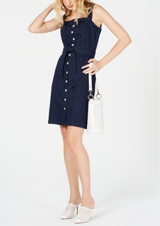 INC International Concepts Inc Sleeveless Button-Front Jean Dress, Created for Macy's