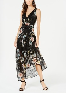 INC International Concepts I.n.c. Sleeveless Clip-Dot Maxi Dress, Created for Macy's