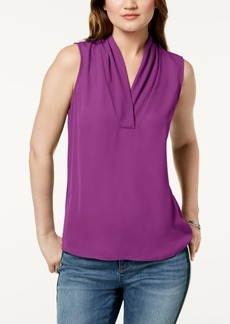 INC International Concepts I.n.c. Sleeveless Draped Top, Created for Macy's