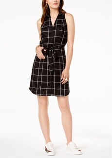 INC International Concepts I.n.c. Petite Belted Plaid Shirtdress, Created for Macy's