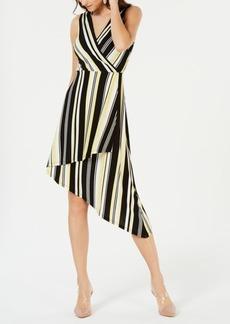INC International Concepts I.n.c. Sleeveless Striped Wrap Dress, Created for Macy's
