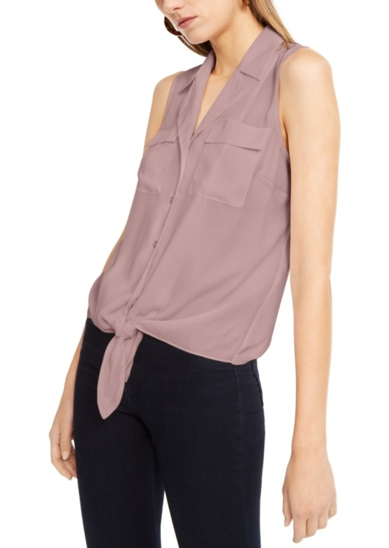 INC International Concepts Inc Sleeveless Tie-Front Top, Created For Macy's