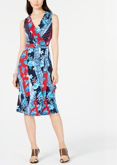 INC International Concepts I.n.c. Sleeveless Wrap Midi Dress, Created for Macy's