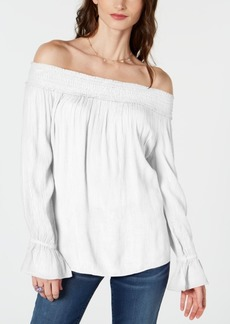 INC International Concepts Inc Smocked Off-The-Shoulder Top, Created for Macy's