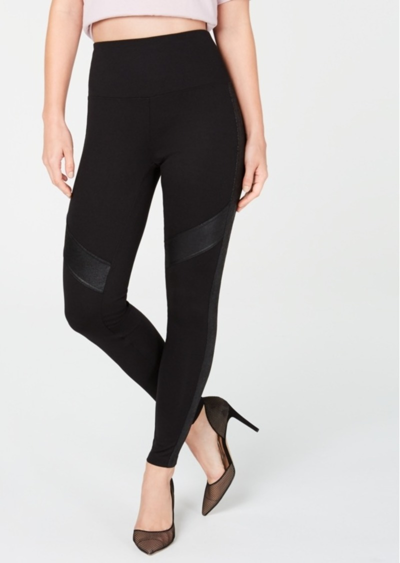 INC International Concepts Inc Snake-Embossed-Applique Leggings, Created For Macy's