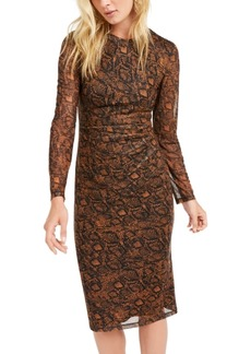 INC International Concepts Inc Snake-Mesh Dress, Created for Macy's