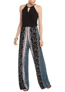 INC International Concepts Inc Solid & Printed Halter Jumpsuit, Created For Macy's