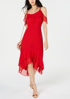 INC International Concepts Inc Solid Cold-Shoulder Midi Dress, Created for Macy's