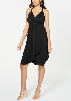 INC International Concepts Inc Solid Crisscross Ring Dress, Created for Macy's