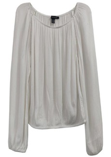 INC International Concepts Inc Solid Peasant Top, Created for Macy's