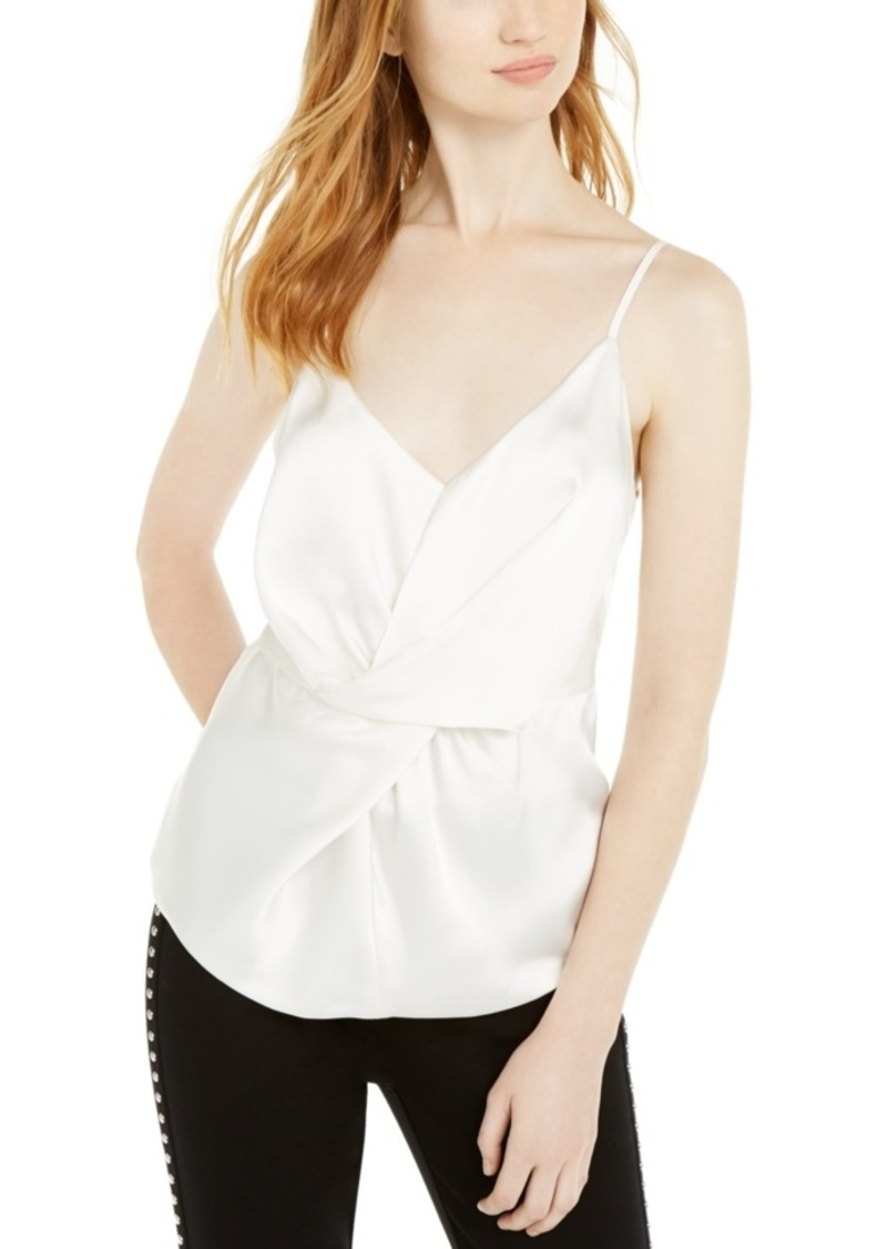 INC International Concepts Inc Solid Twist-Front Cami Top, Created For Macy's