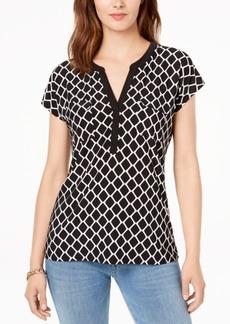 INC International Concepts I.n.c. Split-Neck T-Shirt, Created for Macy's