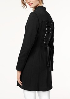 I.n.c. Stand-Collar Ponte-Knit Zip Coat, Created for Macy's