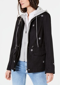 INC International Concepts I.n.c. Star-Embellished Parka, Created for Macy's