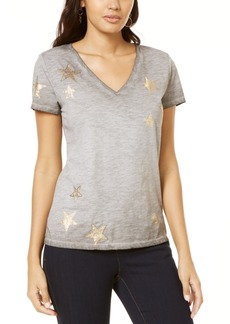 INC International Concepts Inc Star Foil T-Shirt, Created for Macy's