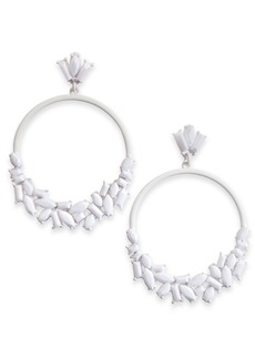 INC International Concepts Inc Stone Cluster Drop Hoop Earrings, Created for Macy's
