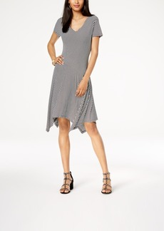 INC International Concepts I.n.c. Striped Asymmetrical-Hem Dress, Created for Macy's