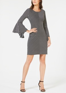 INC International Concepts I.n.c. Striped Bell-Sleeve Tie-Back Dress, Created for Macy's