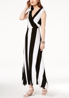 INC International Concepts I.n.c. Striped Cap-Sleeve Maxi Dress, Created for Macy's