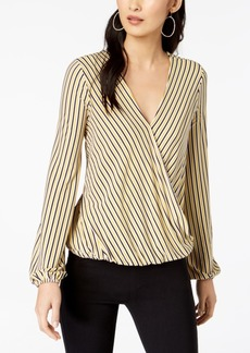 INC International Concepts I.n.c. Striped Faux-Wrap Top, Created for Macy's