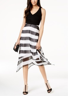INC International Concepts I.n.c. Petite Striped V-Neck Midi Dress, Created for Macy's