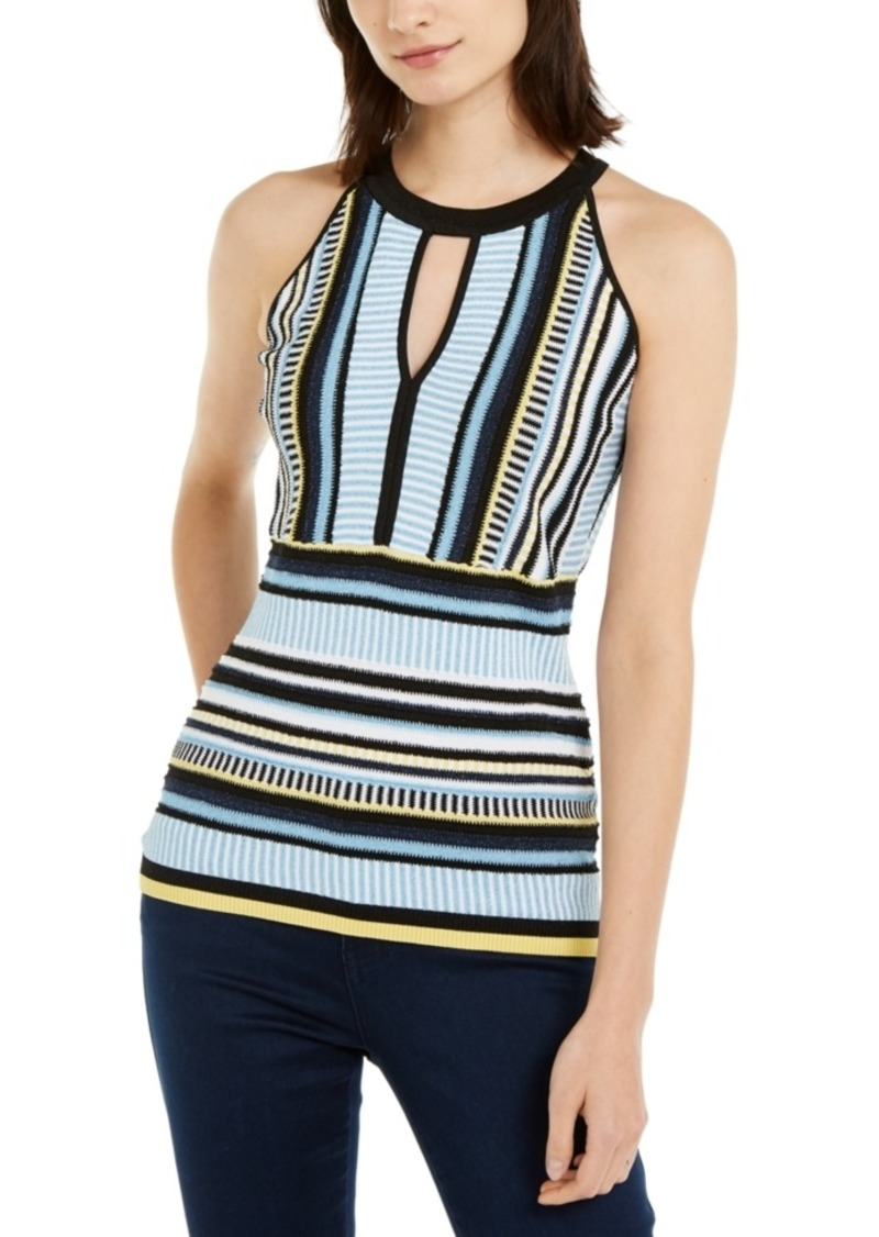 INC International Concepts Inc Striped Knit Halter Top, Created for Macy's