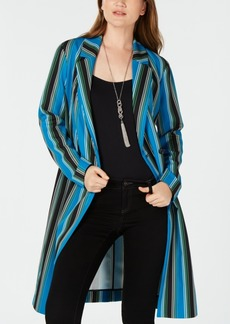 INC International Concepts I.n.c. Striped Long Belted Jacket, Created for Macy's